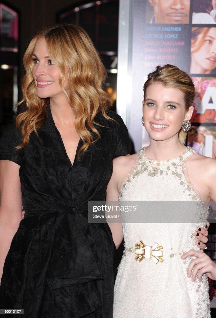 Actresses Julia Roberts And Emma Roberts Arrive At The