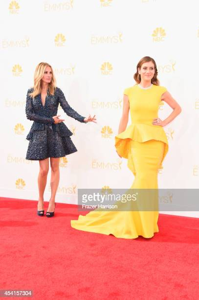Actresses Julia Roberts and Kate Walsh attend the 66th Annual Primetime Emmy Awards held at Nokia Theatre LA Live on August 25 2014 in Los Angeles...
