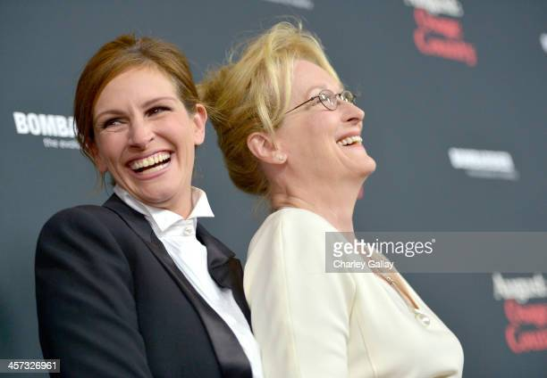 """Actresses Julia Roberts and Meryl Streep attend the LA premiere Of """"August: Osage County"""" presented by The Weinstein Company in partnership with..."""