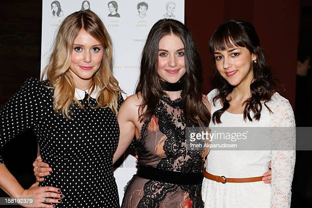 Actresses Julianna Guill Alison Brie and Cyrina Fiallo attend the screening of 'Save The Date' on December 10 2012 in Los Angeles California