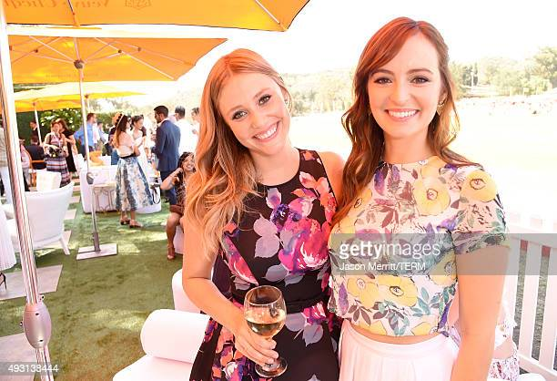 Actresses Julianna Guill and Ahna O'Reilly attend the SixthAnnual Veuve Clicquot Polo Classic at Will Rogers State Historic Park on October 17 2015...