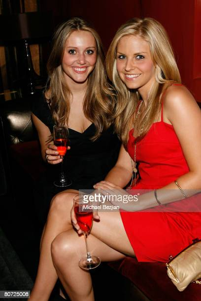 Actresses Julianna Guill and Nikki Griffin pose at Nikki Griffin's Birthday Party at Midnight Music Wednesdays at Stone Rose on April 16 2008 in Los...