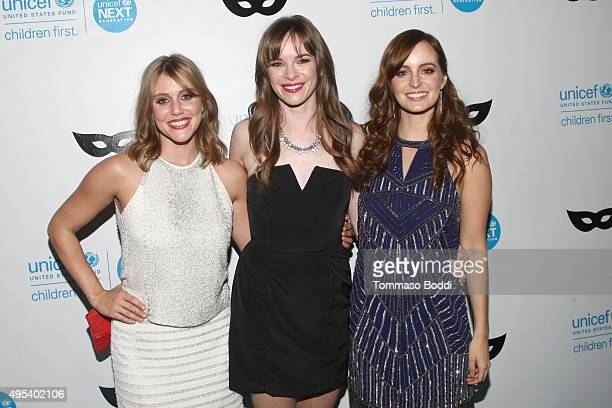 Actresses Julianna Guill Danielle Panabaker and Ahna O'Reilly at the UNICEF Next Generation Third Annual UNICEF Black White Masquerade Ball...
