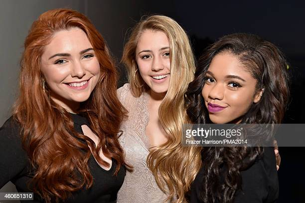 Actresses Julianna Rose Lia Marie Johnson and Teala Dunn attend the PEOPLE Magazine Awards at The Beverly Hilton Hotel on December 18 2014 in Beverly...