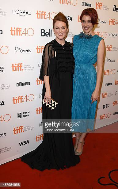 Actresses Julianne Moore and Greta Gerwig attend the Maggie's Plan premiere during the 2015 Toronto International Film Festival at the Princess of...
