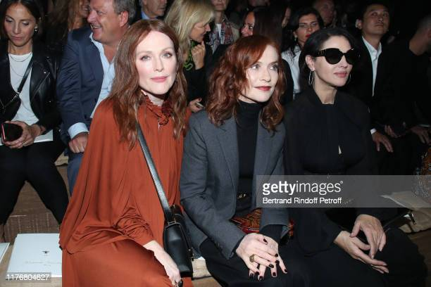 Actresses Julianne Moore, Isabelle Huppert and Monica Bellucci attend the Christian Dior Womenswear Spring/Summer 2020 show as part of Paris Fashion...