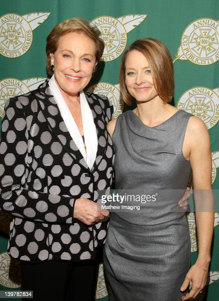 Actresses Julie Andrews and Jodie Foster attend the 49th Annual ICG Publicists Awards place at The Beverly Hilton Hotel on February 24 2012 in...