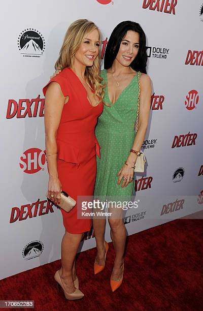 """Actresses Julie Benz and Jaime Murray arrive at the premiere screening of Showtime's """"Dexter"""" Season 8 at Milk Studios on June 15, 2013 in Los..."""