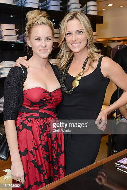 Actresses Julie Berman and Kelly Sullivan attend an Evening In Honor Of The Muscular Dystrophy Association Canali at Canali Boutique on October 25...