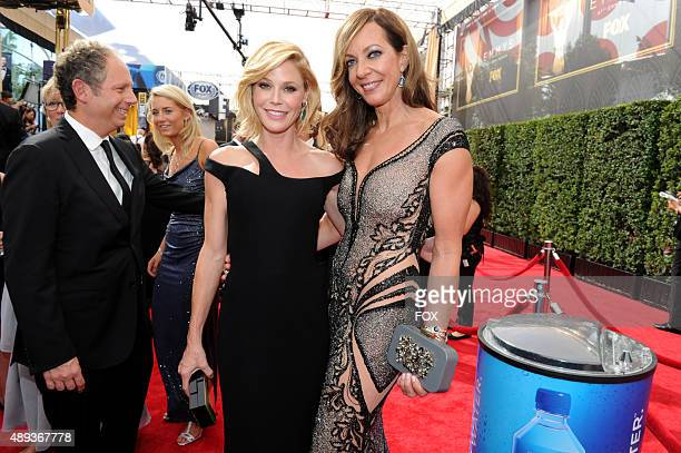 Actresses Julie Bowen and Allison Janney attend the 67th Annual Primetime Emmy Awards at Microsoft Theater on September 20 2015 in Los Angeles...