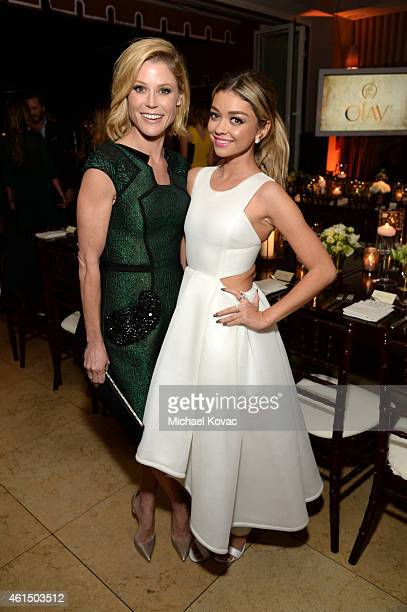Actresses Julie Bowen and Sarah Hyland attend ELLE's Annual Women in Television Celebration on January 13 2015 at Sunset Tower in West Hollywood...