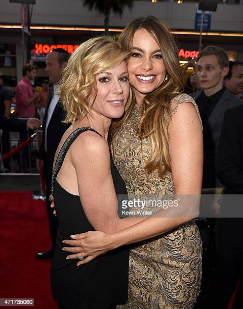 Actresses Julie Bowen and Sofia Vergara attend the premiere of New Line Cinema and MetroGoldwynMayer's 'Hot Pursuit' at TCL Chinese Theatre on April...