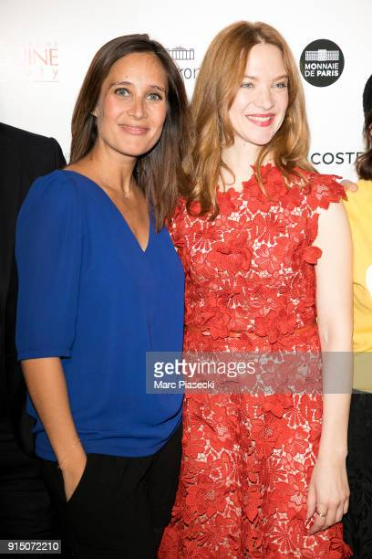 Actresses Julie de Bona and Odile Vuillemin attend the 'Trophees du Film Francais' 25t ceremony at Palais Brongniart on February 6 2018 in Paris...
