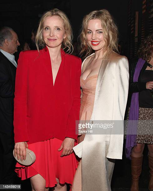 Actresses Julie Delpy and Melissa George attend the 2 Days in New York premiere after party during the 2012 Tribeca Film Festival at Bombay Sapphire...