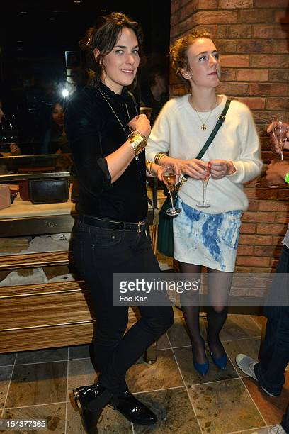 Actresses Julie Fournier and Josephine de Meaux attend the 'UGG Australia' Store Opening in Le Marais on October 18 2012 in Paris France
