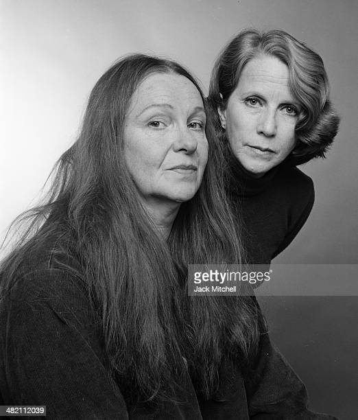 Actresses Julie Harris and Geraldine page photographed during rehearsals of Mixed Couples on Broadway which closed after only nine performances