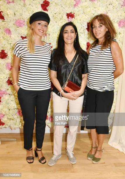 Actresses Julie Nicolet Fatima Adoum and writer Anna Veronique El Baze attend the EFashion Awards at Salon des Miroirs on September 12 2018 in Paris...