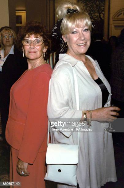 Actresses Juliette Kaplan and Jean Ferguson during Comic Heritage's tribute lunch for Sir Norman Wisdom at the Le Meridien at the Grosvenor House...