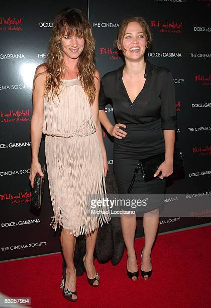 Actresses Juliette Lewis and Erika Christensen attend a screening of Filth and Wisdom hosted by The Cinema Society and Dolce and Gabbana at the IFC...