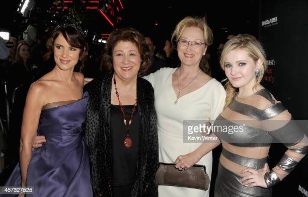 Actresses Juliette Lewis Margo Martindale Meryl Streep and Abigail Breslin attend the premiere of The Weinstein Company's August Osage County at...