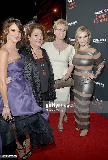 "Actresses Juliette Lewis, Margo Martindale, Meryl Streep and Abigail Breslin attend the LA premiere Of ""August: Osage County"" presented by The..."