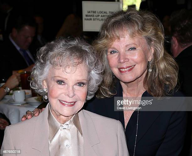 Actresses June Lockhart and Marta Kristen attend the Hollywood Chamber of Commerce honoring June Lockhart with it's Lifetime Achievement Award at the...