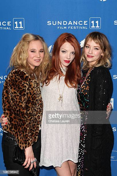 Actresses Juno TempleNicole LaLiberte and Haley Bennett attend Kaboom at the Prospect Square Theater during the 2011 Sundance Film Festival on...