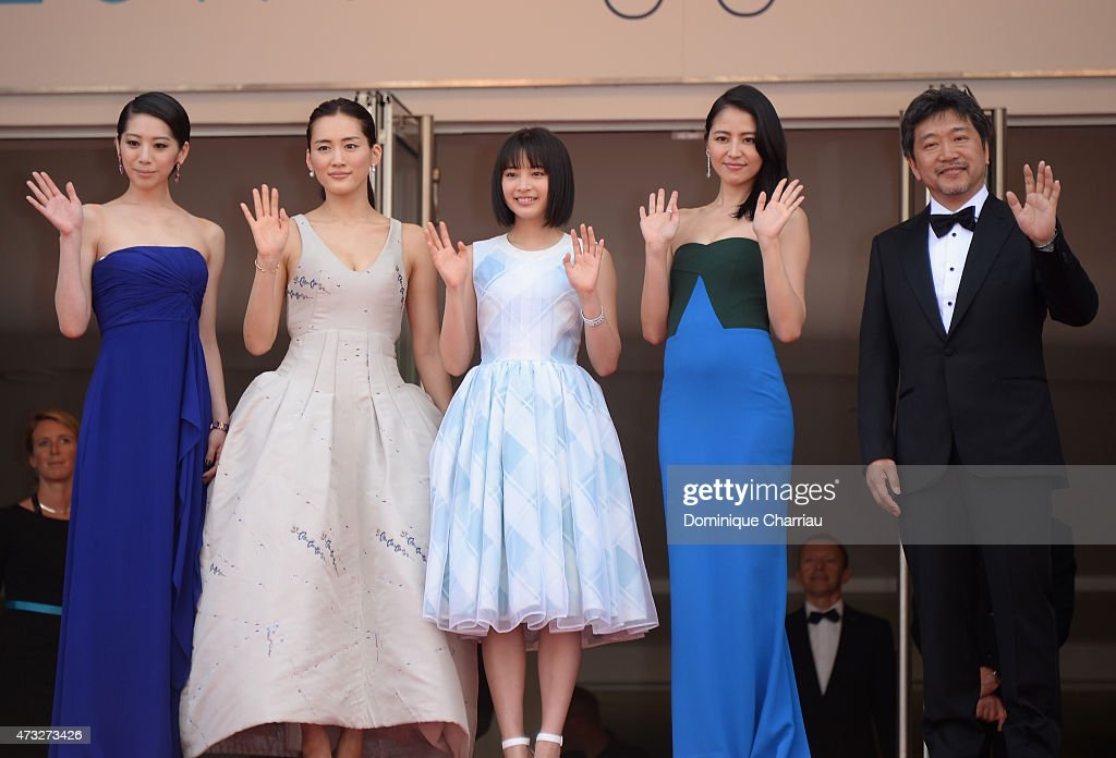 Actresses Kaho, Haruka Ayase, Suzu Hirose, Masami Nagasawa, and director Hirokazu Koreeda attend the 'Umimachi Diary' ('Our Little Sister') photocall during the 68th annual Cannes Film Festival on May 14, 2015 in Cannes, France.