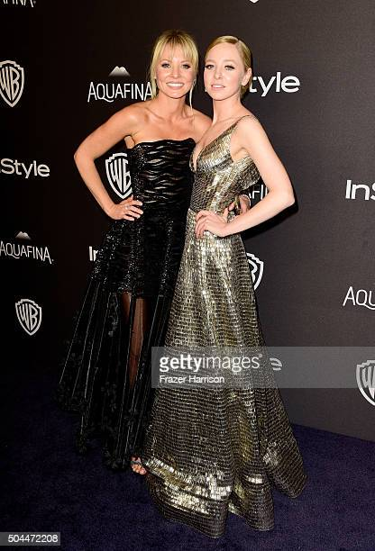 Actresses Kaitlin Doubleday and Portia Doubleday attend InStyle and Warner Bros 73rd Annual Golden Globe Awards PostParty at The Beverly Hilton Hotel...