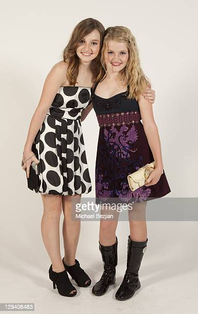 Actresses Kaitlyn and Mady Dever attend Bella Thorne's 13th Birthday Celebration at Siren Studios on October 9 2010 in Hollywood California