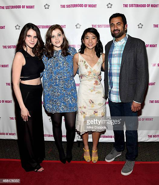 Actresses Kara Hayward Georgie Henley Willa CuthrellTuttleman and actor Kal Penn attend 'The Sisterhood Of Night' NY Premiere and After Party on...