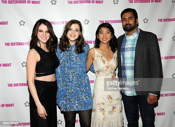 Actresses Kara Hayward Georgie Henley Willa CuthrellTuttleman and actor Kal Penn attend 'The Sisterhood Of Night' New York Premiere at SVA Theater on...