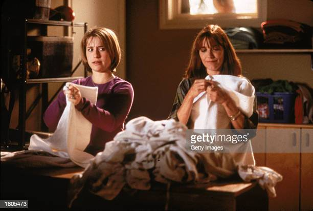 Actresses Karen Allen right and Allison Mack perform in a scene from the televised movie My Horrible Year