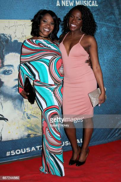 Actresses Karen Burthwright Vanessa Cobham attend the World Premiere Opening Night For Sousatzka at Elgin and Winter Garden Theatre Centre on March...