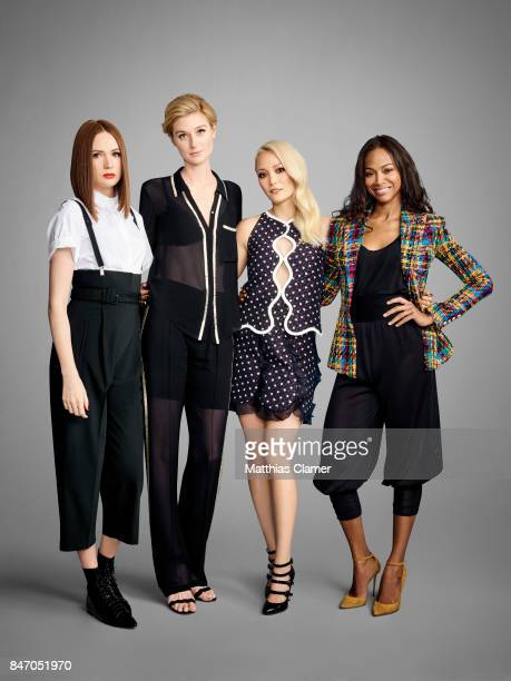 Actresses Karen Gillan Elizabeth Debicki Pom Klementieff and Zoe Saldana from 'Guardians of the Galaxy Vol 2' are photographed for Entertainment...
