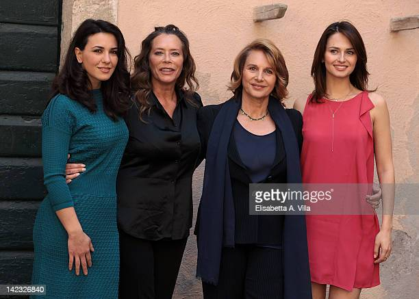 Actresses Karin Proia Barbara De Rossi Paola Pitagora and Anna Safroncik attend 'Le Tre Rose Di Eva' Mediaset Tv series photocall at Castello di...