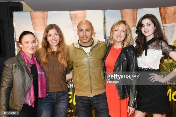 Actresses Karine Valmer Celia Rosich director/actor Eric Judor actresses Dorothee Pousseo and Claire Chust attend Problemos Paris Premiere At UGC...