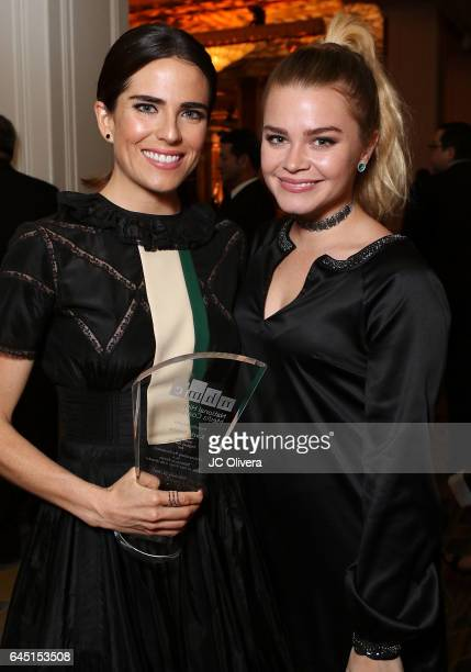 Actresses Karla Souza and Ana Osorio attend the 20th Annual National Hispanic Media Coalition Impact Awards Gala at Regent Beverly Wilshire Hotel on...