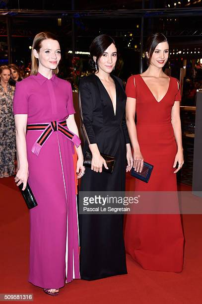 Actresses Karoline Herfurth Sibel Kekilli and Aylin Tezel atend the 'Hail Caesar' premiere during the 66th Berlinale International Film Festival...