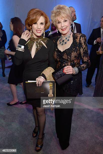 Actresses Kat Kramer and Karen Sharpe attend the Universal NBC Focus Features E sponsored by Chrysler viewing and after party with Gold Meets Golden...