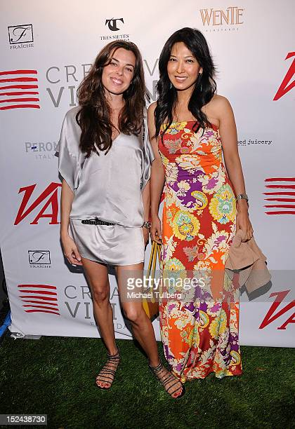 Actresses Katarina Radivojevic and Alexandra Chun arrive at Creative Visions Foundation's TURN ON LA Gala on September 20 2012 in Santa Monica...