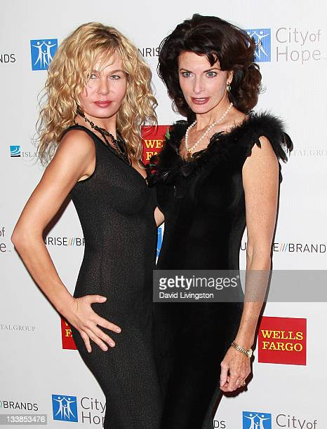 Actresses Katarzyna Wolejnio and Joan Severance attend the City of Hope Gala at Soho House on November 20 2011 in West Hollywood California