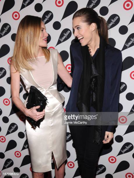 Actresses Kate Bosworth and Allison Williams attend the Target Neiman Marcus Holiday Collection launch event on November 28 2012 in New York City