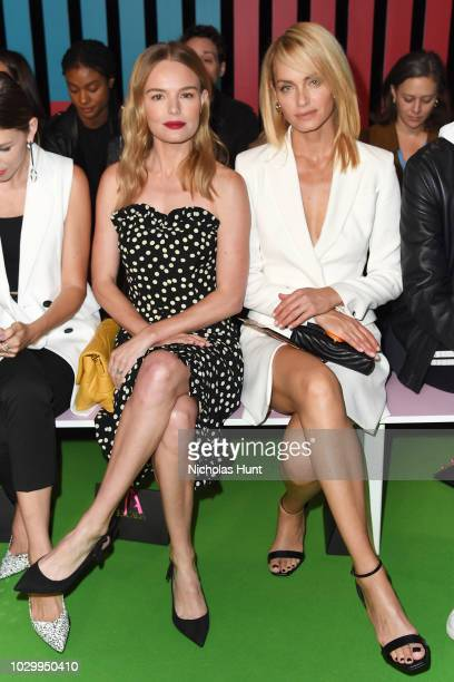 Actresses Kate Bosworth and Amber Valletta attend the Escada Front Row during New York Fashion Week on September 9 2018 in New York City
