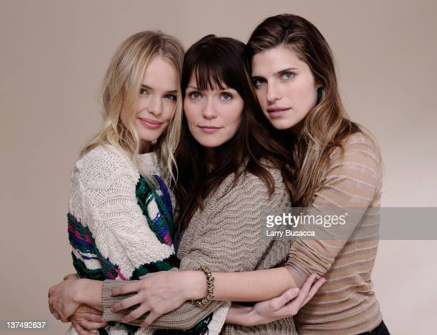 Actresses Kate Bosworth Katie Aselton and Lake Bell pose for a portrait during the 2012 Sundance Film Festival at the Getty Images Portrait Studio at...