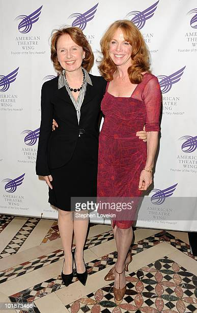 Actresses Kate Burton and Amy Van Nostrand attend the 2010 American Theatre Wing Spring Gala at Cipriani 42nd Street on June 7 2010 in New York City
