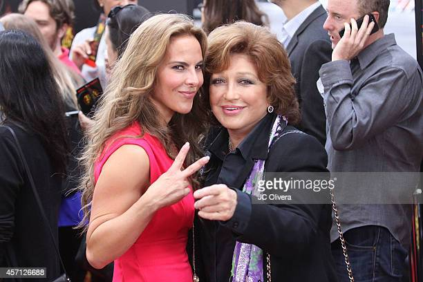 Actresses Kate Del Castillo and Angelica Maria attend 'The Book Of Life' Los Angeles premiere at Regal 14 at LA Live Downtown on October 12 2014 in...