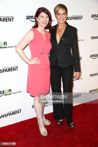 Actresses Kate Flannery and Melora Hardin attend the premiere of Amazon's 'Transparent' at Ace Hotel on September 15, 2014 in Los Angeles, California.