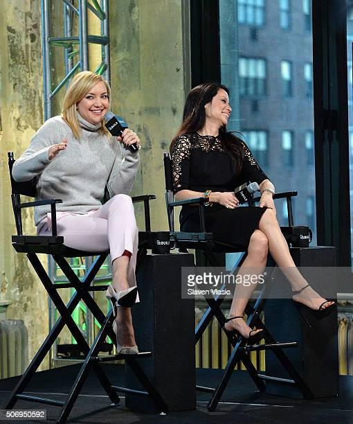 Actresses Kate Hudson and Lucy Liu discuss their upcoming film Kung Fu Panda 3 the third installment of the hit animation actioncomedy tale at AOL...