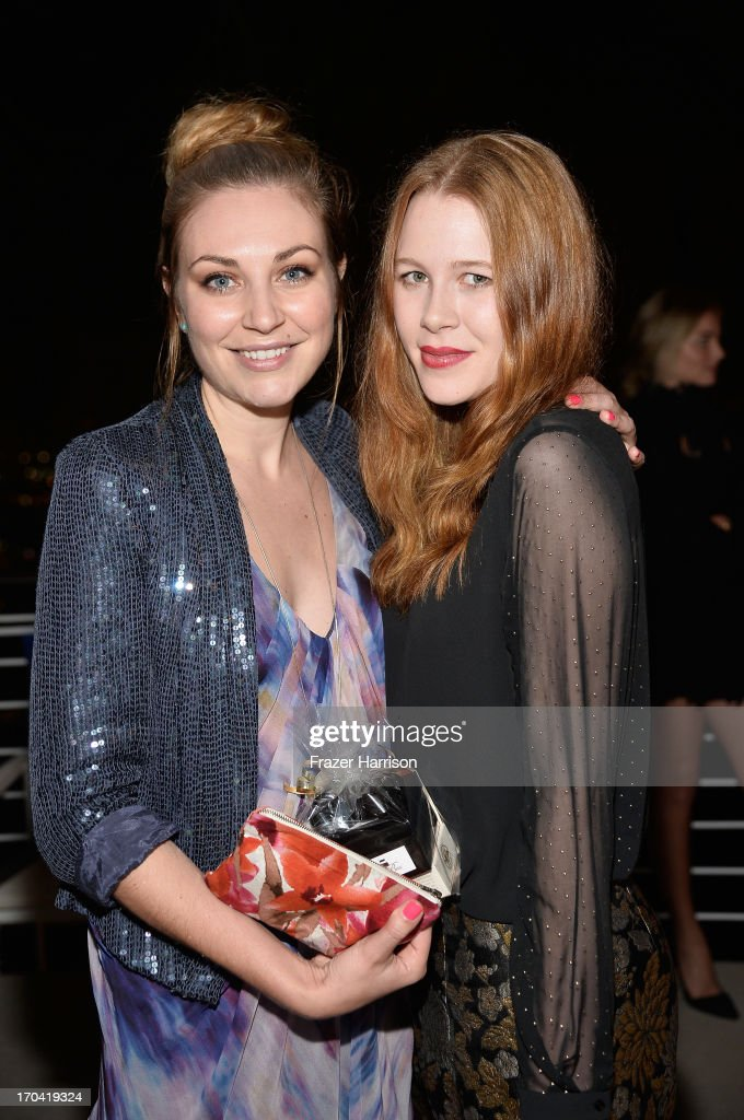 Actresses Kate Jenkinson and Anna McGahan attend the Australians In Film and Heath Ledger Scholarship Host 5th Anniversary Benefit Dinner on June 12, 2013 in Los Angeles, California.